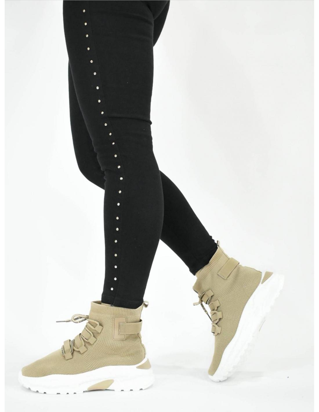 Deportivo calcetin beige