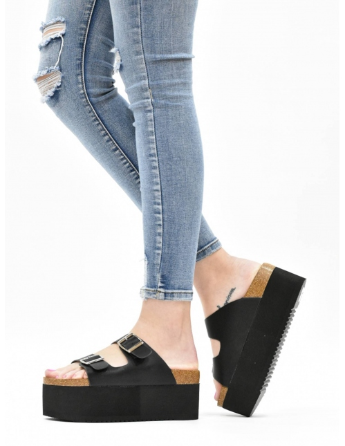 Sandalia erika negra