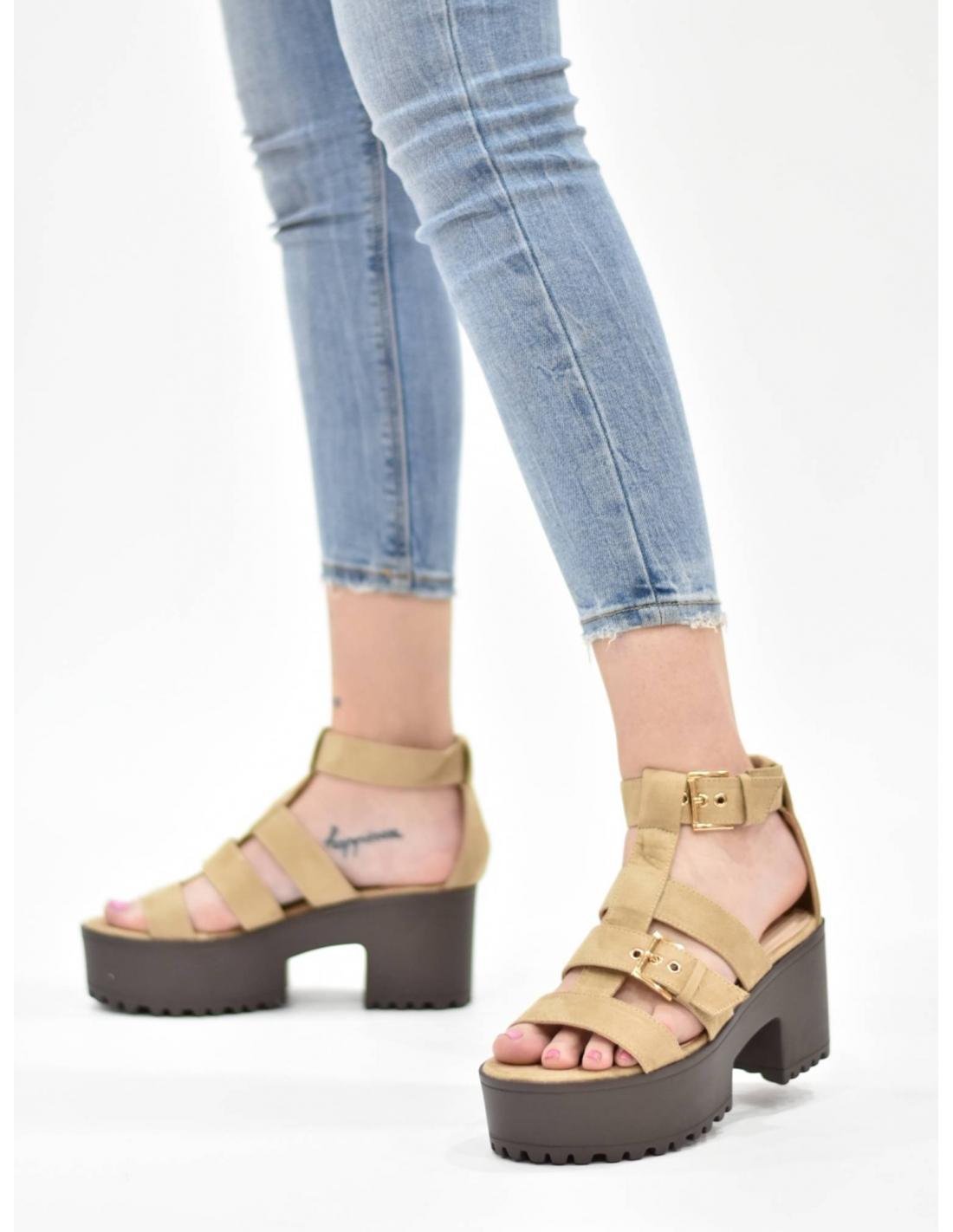 Sandalia vanet beige